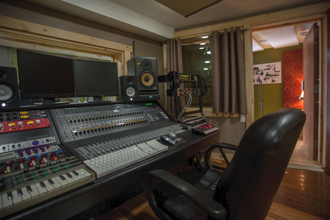 Mixing Room of the Silverthorn recording studio in Toronto, Ontario, Canada